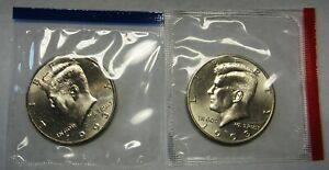 1993 P AND 1993 D UNCIRCULATED KENNEDY HALF DOLLARS ORIGINAL MINT CELLO PACKS