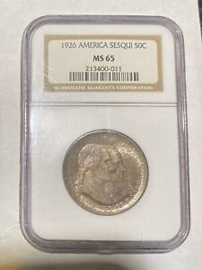 Click now to see the BUY IT NOW Price! CLASSIC COMMEMORATIVE SESQUICENTENNIAL OF AMERICAN INDEPENDENCE 1926 P NGC MS 65