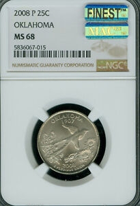 Click now to see the BUY IT NOW Price! 2008 P OKLAHOMA QUARTER NGC MS68 MAC FINEST BUSINESS STRIKE MAC SPOTLESS POP 2