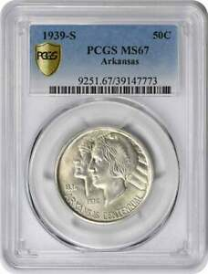 Click now to see the BUY IT NOW Price! ARKANSAS COMMEMORATIVE SILVER HALF DOLLAR 1939 S MS67 PCGS