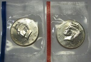1999 P AND 1999 D UNCIRCULATED KENNEDY HALF DOLLARS ORIGINAL MINT CELLO PACKS