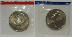 2005 P AND 2005 D UNCIRCULATED KENNEDY HALF DOLLARS ORIGINAL MINT CELLO PACKS