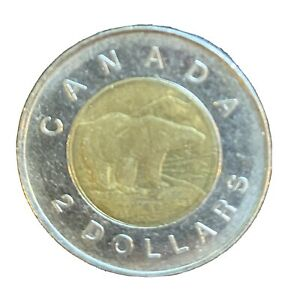 CANADA 1997 TWO DOLLAR CANADIAN TOONIE $2 DOLLARS EXACT COIN