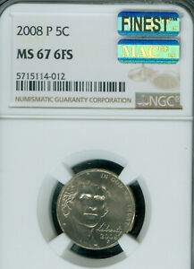 Click now to see the BUY IT NOW Price! 2008 P JEFFERSON NICKEL NGC MS67 FS MAC FINEST BUSINESS STRIKE & SPOTLESS POP 2