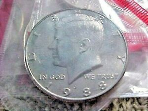 6    1988 D KENNEDY HALF DOLLARS  UNCIRCULATED  IN CELLO