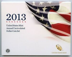 2013 UNITED STATES MINT ANNUAL UNCIRCULATED DOLLAR COIN SET SILVER EAGLE   JK977