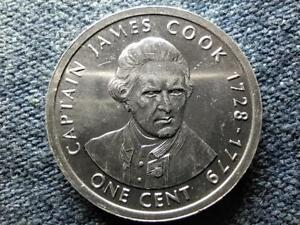 COOK ISLANDS 275TH ANNIVERSARY OF THE BIRTH OF JAMES COOK 1 CENT COIN 2003