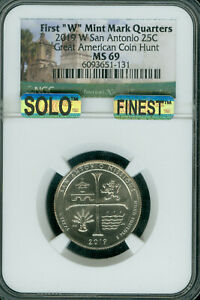Click now to see the BUY IT NOW Price! 2019 W SAN ANTONIO QUARTER MS69 SOLO FINEST & SPOTLESS 1 IN 20 MILLION MINTED