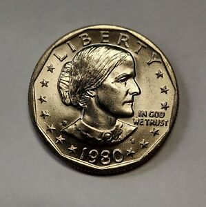 1980 D SUSAN B ANTHONY DOLLAR CHOICE BU PRICED TO MOVE AND SHIPPED FREE