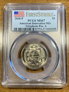 Click now to see the BUY IT NOW Price! 2020 P $1 AMERICAN INNOVATION DOLLAR TELEPHONE FIRST STRIKE PCGS MS67 POS A