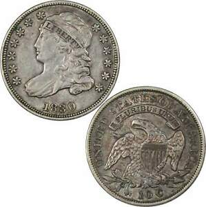 1830 LARGE 10C CAPPED BUST DIME XF EF LY FINE 89.24  SILVER 10C TYPE COIN
