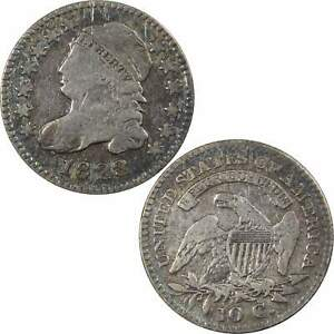 1823 SMALL E'S CAPPED BUST DIME VG GOOD DETAILS 89.24  SILVER 10C TYPE COIN