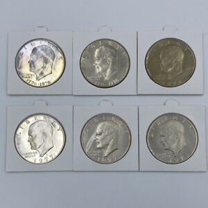 IKE $1 LIBERTY DOLLARS  1  1974  2  1976  2  1977  1  1978  6 TOTAL COINS