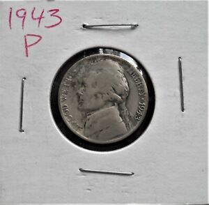 1943 P WWII NICKEL   NICE SILVER COIN        615