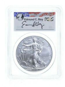 2014 MS70 MOY SIGNED   $1 AMERICAN SILVER EAGLE PCGS  0788