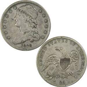 1838 CAPPED BUST QUARTER VF FINE 90  SILVER 25C US TYPE COIN COLLECTIBLE