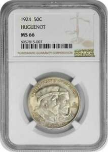 Click now to see the BUY IT NOW Price! HUGUENOT COMMEMORATIVE HALF DOLLAR 1924 MS66 NGC