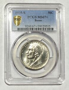 Click now to see the BUY IT NOW Price! CLASSIC COMMEMORATIVE DANIEL BOONE BICENTENNIAL 1935 S PCGS MS 67    BOONE