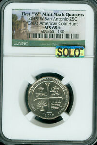 Click now to see the BUY IT NOW Price! 2019 W SAN ANTONIO QUARTER NGC MS68  MAC SOLO  SPOTLESS 1 IN 20 MILLION