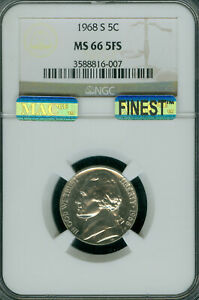 Click now to see the BUY IT NOW Price! 1968 S JEFFERSON NICKEL NGC MS66 FS PQ MAC FINEST POP 4 MAC SPOTLESS