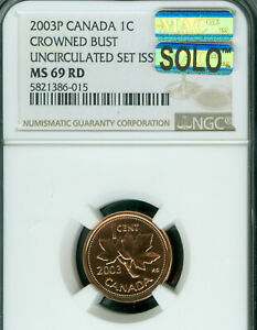 Click now to see the BUY IT NOW Price! 2003 P TEST CANADA CROWNED BUST CENT NGC MS 69 PQ MAC SOLO FINEST MAC SPOTLESS