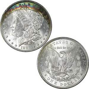 1888 MORGAN DOLLAR BU UNCIRCULATED MINT STATE 90  SILVER $1 US COIN TONED