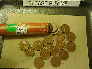 1971 D LINCOLN CENT ROLL          S&H C/S