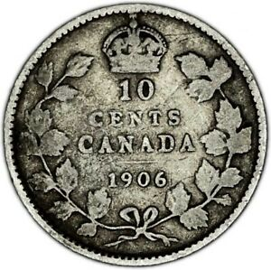 CANADA COIN 10 CENTS 1906