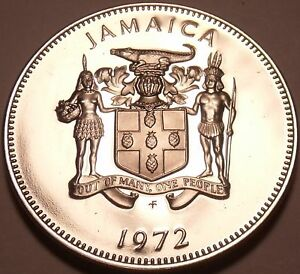 PROOF JAMAICA 1972 5 CENTS AMERICAN CROCODILE ONLY 17 000 MINTED FREE SHIP