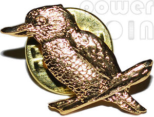 KOOKABURRA PIN OFFICIAL PERTH MINT COMMEMORATIVE PRODUCT GOLD PLATED TYPE 1