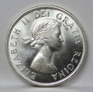 Click now to see the BUY IT NOW Price! 1954 CANADA SILVER HALF DOLLAR KM53 ELIZABETH II   UNC 01093843G