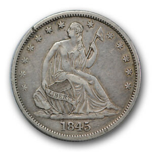 Click now to see the BUY IT NOW Price! 1845 O 50C RPD FS 303 WB 108 LIBERTY SEATED HALF DOLLAR EXTRA FINE R303