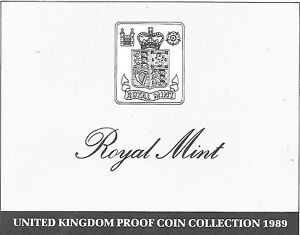 1989 GREAT BRITAIN 9 COIN 3 PAGE C.O.A. DOCUMENT SET