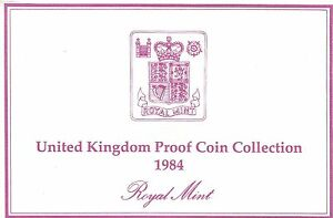 1984 GREAT BRITAIN 8 COIN 2 PAGE C.O.A. DOCUMENT SET