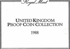 1988 GREAT BRITAIN 7 COIN 3 PAGE C.O.A. DOCUMENT SET