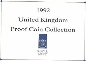 1992 GREAT BRITAIN 9 COIN 2 PAGE C.O.A. DOCUMENT SET