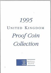 1995 GREAT BRITAIN 8 COIN 2 PAGE C.O.A. DOCUMENT SET