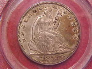 Click now to see the BUY IT NOW Price! 1853 O SEATED LIBERTY HALF DOLLAR   PCGS AU55 ARROWS AND RAYS    G525