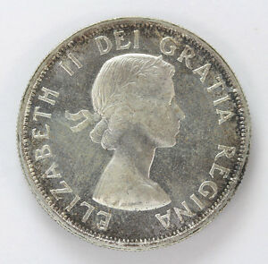 Click now to see the BUY IT NOW Price! 1954 CANADA SILVER HALF DOLLAR ELIZABETH II KM53   CH BU 01283504G