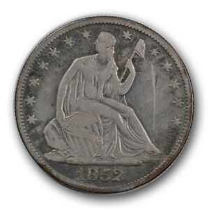 1852 O 50C LIBERTY SEATED HALF DOLLAR FINE VF NEW ORLEANS TOUGH R832
