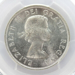 Click now to see the BUY IT NOW Price! 1954 CANADA SILVER HALF DOLLAR ELIZABETH II KM53 PCGS   MS64 01294206G