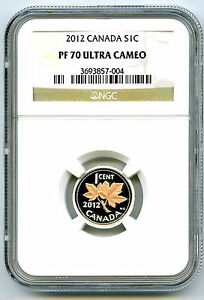 Click now to see the BUY IT NOW Price! 2012 CANADA SILVER CENT NGC PF70 UCAM PROOF FIRST & LAST YEAR ISSUE GILTED MAPLE