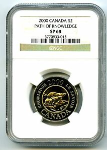 Click now to see the BUY IT NOW Price! 2000 CANADA $2 TOONIE NGC SP68 PATH OF KNOWLEDGE LOW POPULATION 3