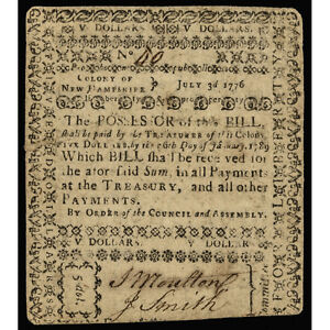 Click now to see the BUY IT NOW Price! COLONIAL CURRENCY NEW HAMPSHIRE. JULY 3 1776. FIVE DOLLARS. PCGS FINE 20