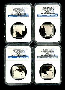 Click now to see the BUY IT NOW Price! 2017 CANADA SILVER  NGC PF70 MAPLE LEAF QUARTET REVERSE PROOF 4 COIN SET FR