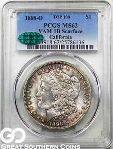Click now to see the BUY IT NOW Price! 1888 O MORGAN SILVER DOLLAR VAM 1B PCGS MS 62     SCARFACE CAC CERTIFIED