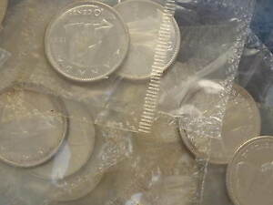 Click now to see the BUY IT NOW Price! 1965 CANADA SILVER TEN CENTS PROOF LIKE ROLL OF 50 COINS IN CELLO B9210