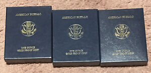 3X   2006 W BUFFALO $50 PROOF GOLD  ORIGINAL GOVERNMENT PACKAGING NO COIN