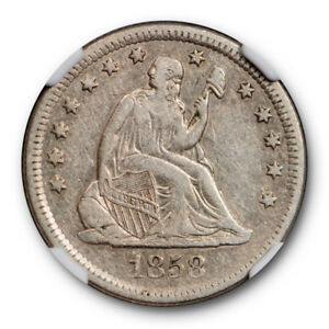 Click now to see the BUY IT NOW Price! 1858 O NO MOTTO SEATED LIBERTY QUARTER 25C NGC XF 40 EXTRA FINE NEW ORLEANS