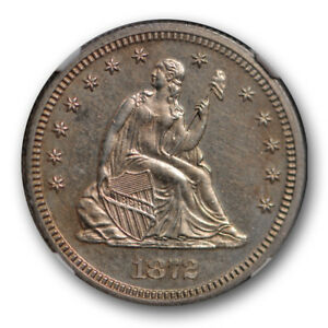 1872 SEATED LIBERTY QUARTER 25C NGC PR 63 PROOF LOW MINTAGE US COIN
